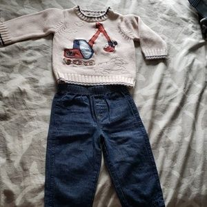 Other - Winter sweater with jeans for 12 months old